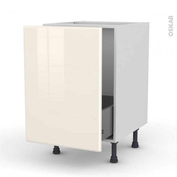 IRIS Ivoire - Meuble sous-évier  - 1 porte coulissante - L50xH70xP58