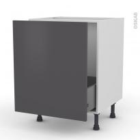 Meuble de cuisine - Sous évier - GINKO Gris - 1 porte coulissante - L60 x H70 x P58 cm