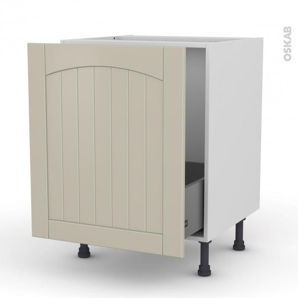 SILEN Argile - Meuble sous-évier  - 1 porte coulissante - L60xH70xP58