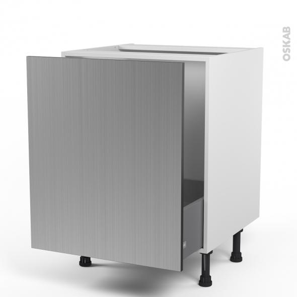 STILO Inox - Meuble sous-évier  - 1 porte coulissante - L60xH70xP58
