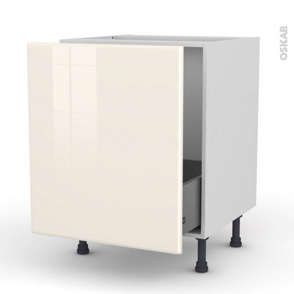 IRIS Ivoire - Meuble sous-évier  - 1 porte coulissante - L60xH70xP58