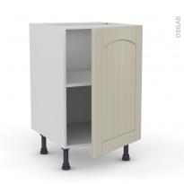 SILEN Argile - Meuble sous-évier  - 1 porte - L50xH70xP58 - droite