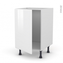 Meuble de cuisine - Sous évier - IRIS Blanc - 1 porte - L50 x H70 x P58 cm