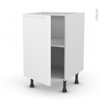 PIMA Blanc - Meuble sous-évier  - 1 porte - L50xH70xP58