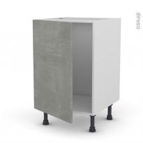 Meuble de cuisine - Sous évier - FAKTO Béton - 1 porte - L50 x H70 x P58 cm