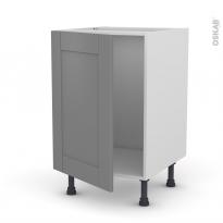 Meuble de cuisine - Sous évier - FILIPEN Gris - 1 porte - L50 x H70 x P58 cm
