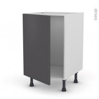 GINKO Gris - Meuble sous-évier  - 1 porte - L50xH70xP58