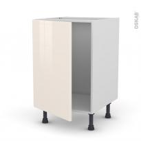 KERIA Ivoire - Meuble sous-évier  - 1 porte - L50xH70xP58