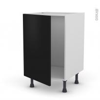 Meuble de cuisine - Sous évier - GINKO Noir - 1 porte - L50 x H70 x P58 cm