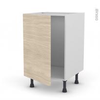 Meuble de cuisine - Sous évier - STILO Noyer Blanchi - 1 porte - L50 x H70 x P58 cm