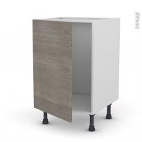 Meuble de cuisine - Sous évier - STILO Noyer Naturel - 1 porte - L50 x H70 x P58 cm