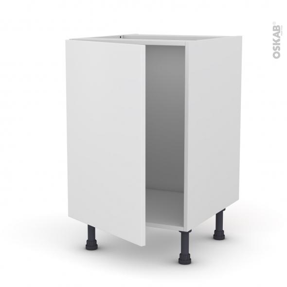 Meuble de cuisine - Sous évier - GINKO Blanc - 1 porte - L50 x H70 x P58 cm