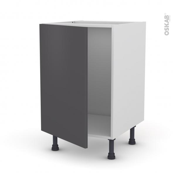 Meuble de cuisine - Sous évier - GINKO Gris - 1 porte - L50 x H70 x P58 cm