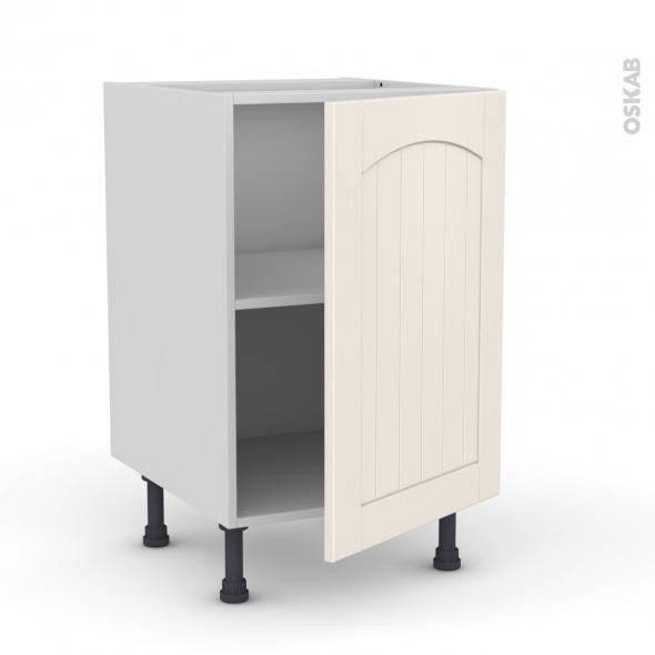 SILEN Ivoire - Meuble sous-évier  - 1 porte - L50xH70xP58 - droite