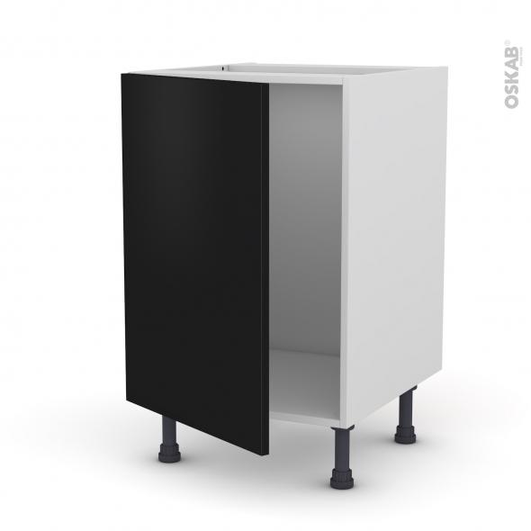 GINKO Noir - Meuble sous-évier  - 1 porte - L50xH70xP58