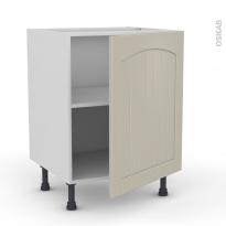 SILEN Argile - Meuble sous-évier - 1 porte - L60xH70xP58 - droite