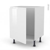 Meuble de cuisine - Sous évier - IPOMA Blanc - 1 porte - L60 x H70 x P58 cm