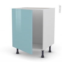 KERIA Bleu - Meuble sous-évier  - 1 porte - L60xH70xP58