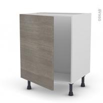 Meuble de cuisine - Sous évier - FAKTO Béton - 1 porte - L60 x H70 x P58 cm