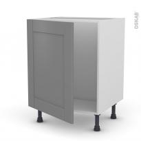 Meuble de cuisine - Sous évier - FILIPEN Gris - 1 porte - L60 x H70 x P58 cm