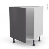 Meuble de cuisine - Sous évier - GINKO Gris - 1 porte - L60 x H70 x P58 cm