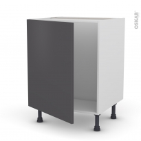 GINKO Gris - Meuble sous-évier  - 1 porte - L60xH70xP58