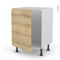 Meuble de cuisine - Sous évier - IPOMA Chêne naturel - 1 porte - L60 x H70 x P58 cm
