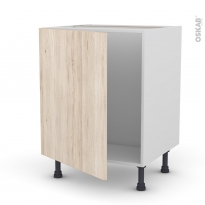 IKORO Chêne clair - Meuble sous-évier  - 1 porte - L60xH70xP58