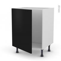 Meuble de cuisine - Sous évier - GINKO Noir - 1 porte - L60 x H70 x P58 cm
