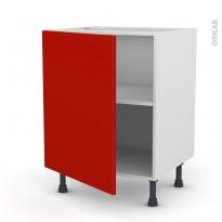 GINKO Rouge - Meuble sous-évier  - 1 porte - L60xH70xP58