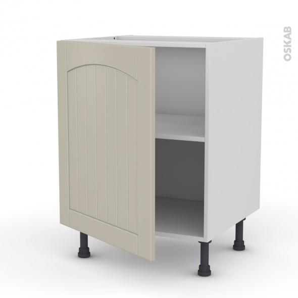 SILEN Argile - Meuble sous-évier - 1 porte - L60xH70xP58 - gauche