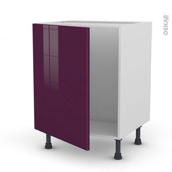 KERIA Aubergine - Meuble sous-évier  - 1 porte - L60xH70xP58