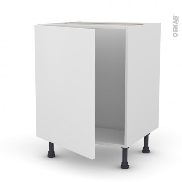 Meuble de cuisine - Sous évier - GINKO Blanc - 1 porte - L60 x H70 x P58 cm