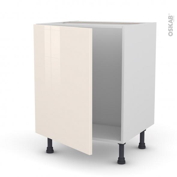 Meuble de cuisine - Sous évier - KERIA Ivoire - 1 porte - L60 x H70 x P58 cm