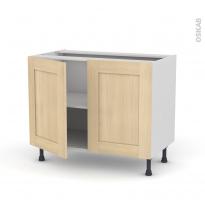 BETULA Bouleau - Meuble sous-évier  - 2 portes - L100xH70xP58