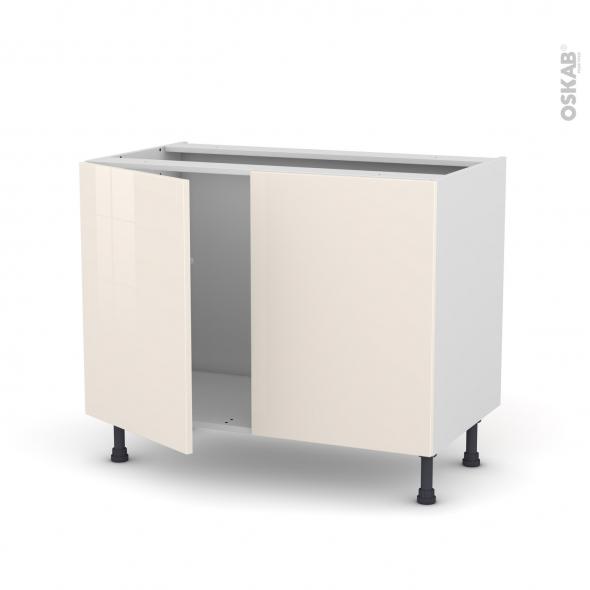 KERIA Ivoire - Meuble sous-évier  - 2 portes - L100xH70xP58