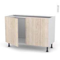 IKORO Chêne clair - Meuble sous-évier  - 2 portes - L120xH70xP58