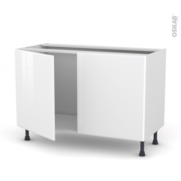 IRIS Blanc - Meuble sous-évier - 2 portes - L120xH70xP58