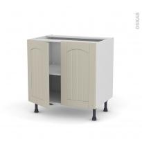 SILEN Argile - Meuble sous-évier  - 2 portes - L80xH70xP58