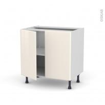 IRIS Ivoire - Meuble sous-évier  - 2 portes - L80xH70xP58