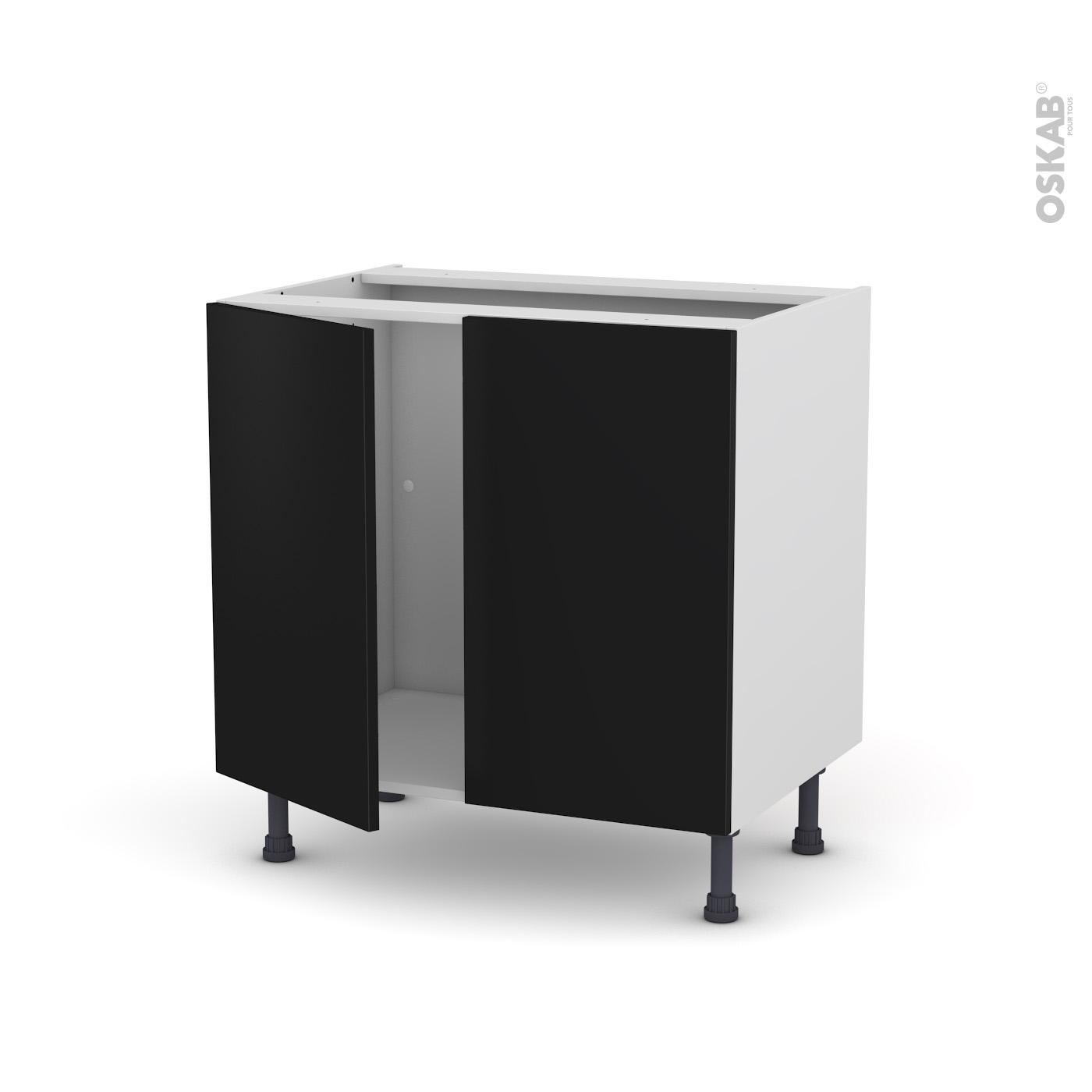 meuble de cuisine noir | urbantrott