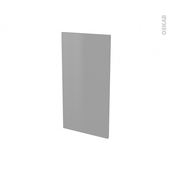 Finition cuisine - Joue N°30 - FILIPEN Gris - Avec sachet de fixation - A redécouper - L37 x H35 x Ep.1.6 cm