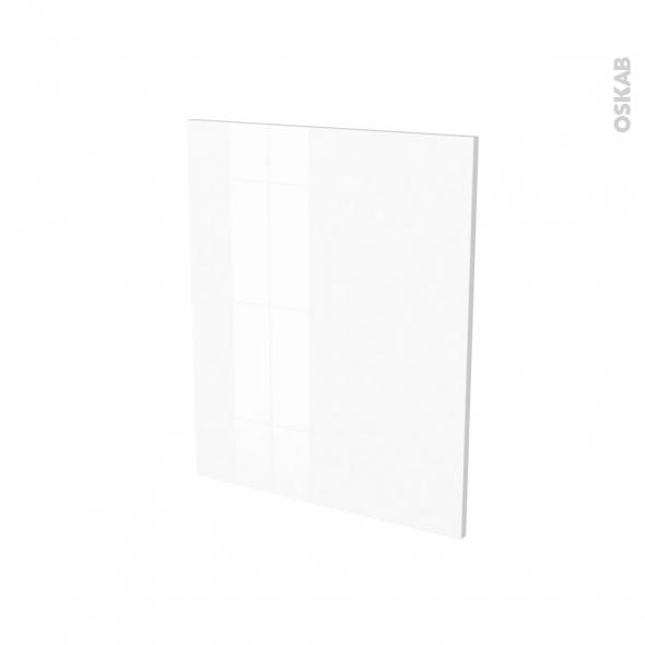 Finition cuisine - Joue N°29 - IRIS Blanc - Avec sachet de fixation - A redécouper - L58 x H57 x Ep.1.6 cm