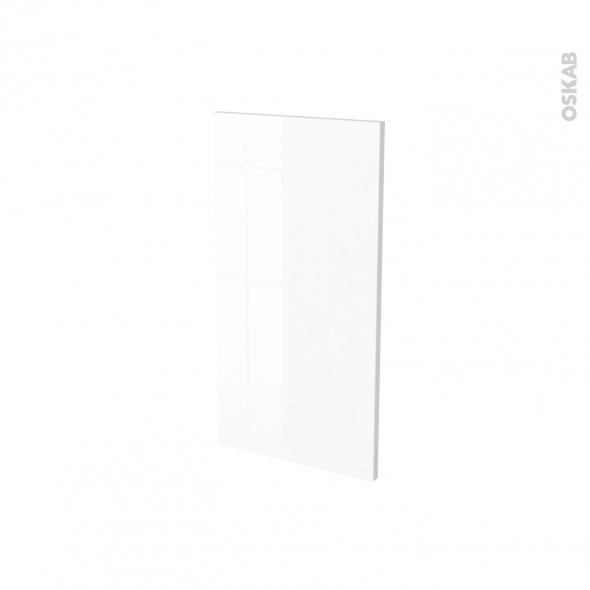 Finition cuisine - Joue N°30 - IPOMA Blanc - Avec sachet de fixation - A redécouper - L37 x H35 x Ep.1.6 cm