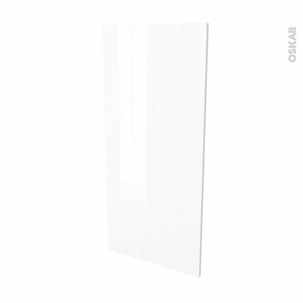 Finition cuisine - Joue N°33 - IRIS Blanc - Avec sachet de fixation - L58 x H125 x Ep.1.6 cm