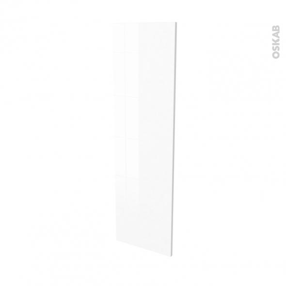 Finition cuisine - Joue N°34 - IRIS Blanc - Avec sachet de fixation - L37 x H125 x Ep.1.6 cm
