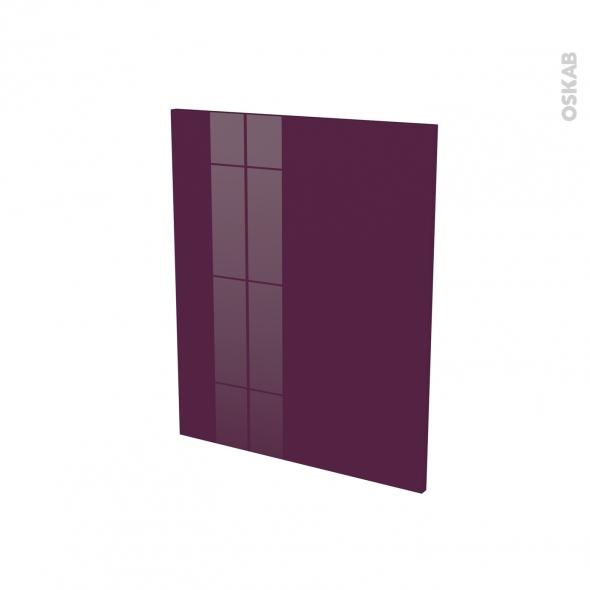 Finition cuisine - Joue N°29 - KERIA Aubergine - Avec sachet de fixation - A redécouper - L58 x H57 x Ep.1.6 cm