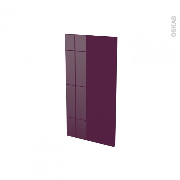 KERIA Aubergine - Rénovation 18 - joue N°81 - Avec sachet de fixation - L37.5 x H70 Ep.1.2 cm