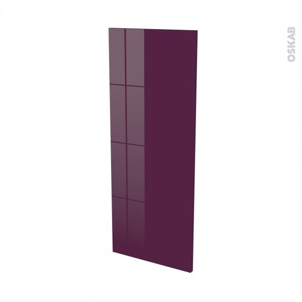 KERIA Aubergine - Rénovation 18 - joue N°82 - Avec sachet de fixation - L37.5 x H92 Ep.1.2 cm