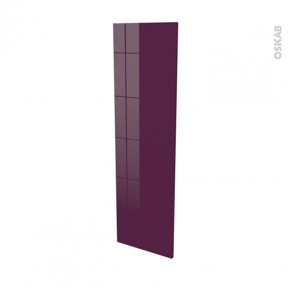 Finition cuisine - Joue N°34 - KERIA Aubergine - Avec sachet de fixation - L37 x H125 x Ep.1.6 cm